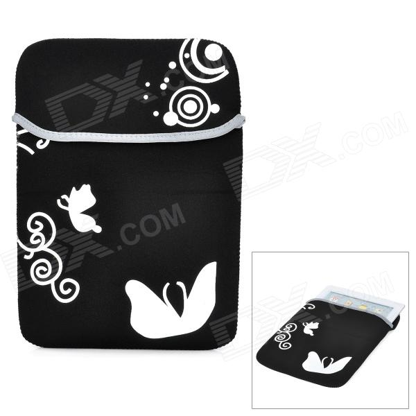 "Protective Soft Pouch Bag for 10.1"" Tablet PC - Black + White"