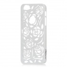 Stylish Newtons Hollow Rose Patterns Protective PC Back Cover Case for Iphone 5 - White