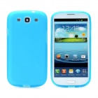 Hotsion s93-01-s Protective Silicone Back Cover Case for Samsung 9300 - Translucent Blue