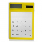 MX-188 Multi-Function Solar Powered 8-Digit Touch Screen Pocket Calculator - Yellow + Transparent