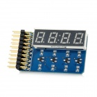 4-Digit 8-Segment LED Display Tube Board Module w/ Point - Blue + Black
