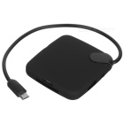 CY GT-037 Micro USB Hub SD / TF / MS / M2 Card Reader for Samsung Galaxy S2 i9100 / i9200 - Black