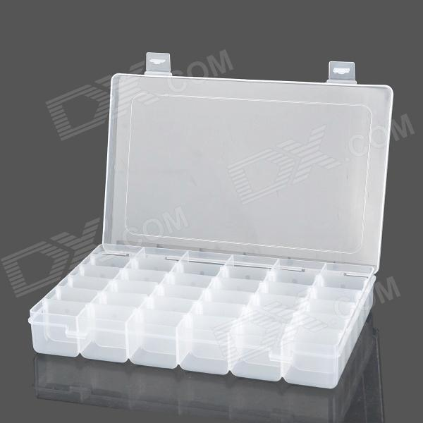 36-Compartment Free Combination Plastic Storage Box for Hardware Tools / GadgetsStorage Supplies<br>Form  ColorWhiteMaterial:Packing List<br>