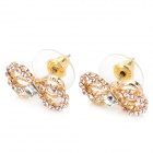 MaDouGongZhu R106-1 Charming Bow Knot Style Ear Studs - Golden (Pair)