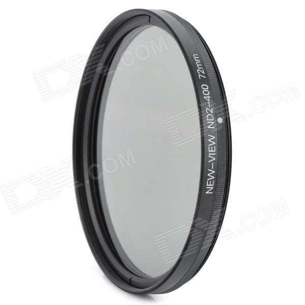 New-View 72mm Adjustable ND2-400 Neutral Density Filter - Black + Tawny genuine new view variable neutral density nd2 400 fader filter for dslr camera 62mm