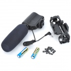 MIC-121 Professional Stereo Shotgun Microphone w/ Mount for Camcorder - Black