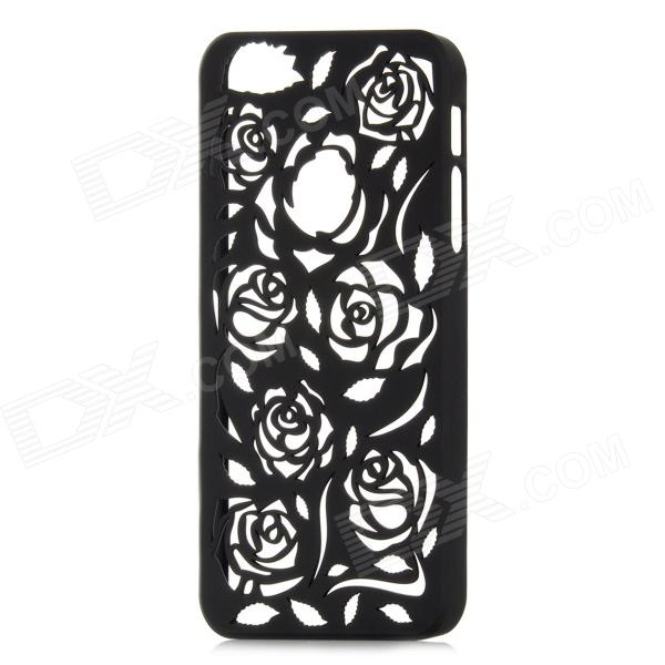Stylish Newtons Hollow Rose Patterns Protective PC Back Cover Case for Iphone 5 - Black skull patterned protective plastic back cover case for iphone 6 plus 5 5 black deep pink