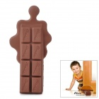 Creative Melted Chocolate Shaped Silicone Door Stopper Guard - Brown