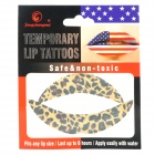BW-1 Fashionable Temporary Lip Tattoo Sticker - Leopard