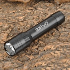 BRIVO GY828 1-LED 1-Mode 2500mAh White Flashlight Mobile Battery w/ 5 Adapters - Black