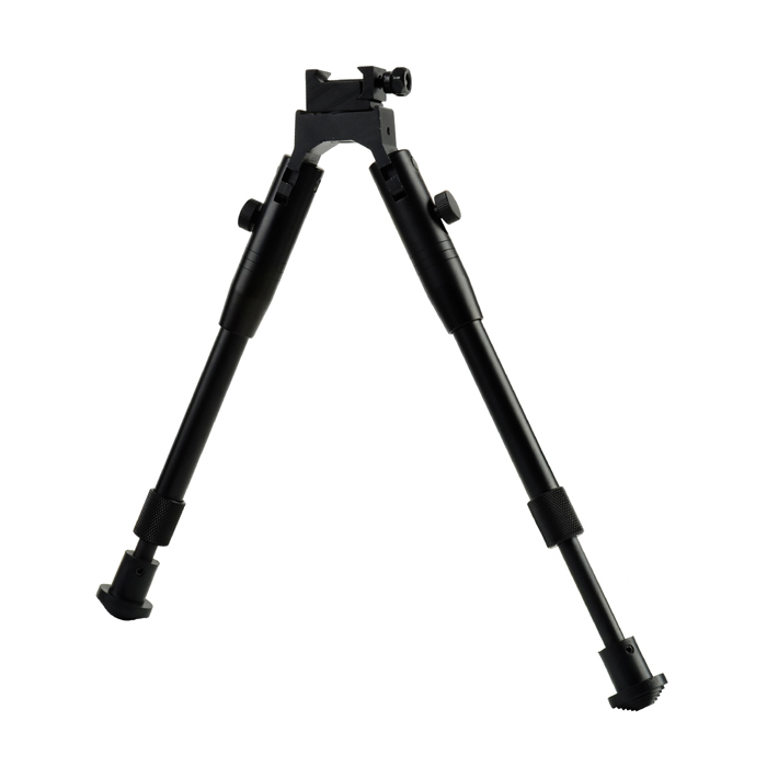 Retractable Aluminum Alloy Biopod for 20mm Gun - Black 6 aluminum alloy tactical bipod w extendable leg for guns black