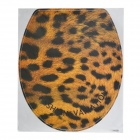 Leopard Style Closetool Decoration Sticker - Black + Yellow (39 x 33cm)