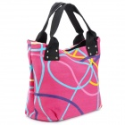 Casual Women&#039;s Canvas One Shoulder Bag - Pink + Black