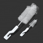 Baby Bottle Cleaning Brush Set - White (2 PCS)