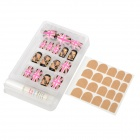 Rock Style American Flag Pattern Decorative False Nail Tips - Pink + Black + Golden (24 PCS)