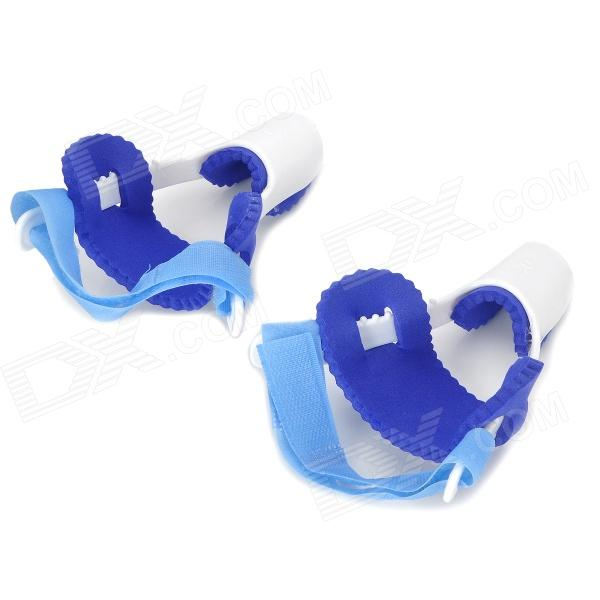 Professional PVC Hallux Valgus / Bunion Regulator - Blue + White (2 Pieces) от DX.com INT