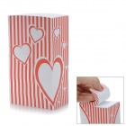 ZhiJiang BXZZ Distorted Hearts Design Note Pad Memo Block - Red + White (1280-Pages)