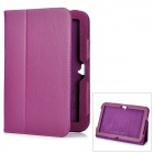 Protective Flip-Open Genuine Leather Case for Google Nexus 10 - Purple