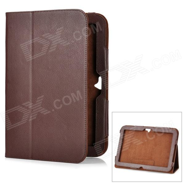 Protective Flip-Open Genuine Leather Case for Google Nexus 10 - Dark Brown ballu bwh s 100 nexus