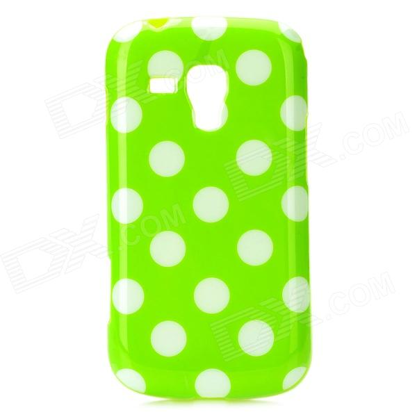 Polka Dot Style Protective TPU Back Case for Samsung S7562 - Green + White handpainted cactus and polka dot printed pillow case