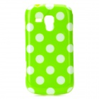 Polka Dot Style Protective TPU Back Case for Samsung S7562 - Green + White