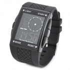 OTS 369G Fashion Sports Rubber Band Digital Wristwatch - Black