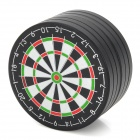 Dartboard Style Zinc Alloy 2-Layer Herb Cigarette Tobacco Grinder - Black + White + Red + Green