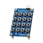 16-Key AD Keypad Development Board Module - Blue