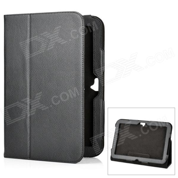 Protective Flip-Open Genuine Leather Case w/ Holder for Google Nexus 10 - Black nexus confessions volume two