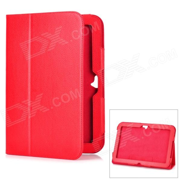 Protective Flip-Open Genuine Leather Case for Google Nexus 10 - Red nexus confessions volume two