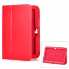 Protective Flip-Open Genuine Leather Case for Google Nexus 10 - Red
