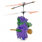 SYAHELI IR Remote Control Broom Flying Witch - Purple + Green