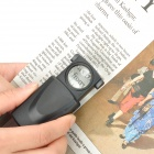 MG21008 30X 21mm Magnifier w/ 1-LED White Light - Black (3 x LR1130)