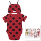DOOMAGIC Cute Bee Style Costume w/ Hat for Children - Red + Black