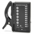 MusicTeach T26G 360 Degree Rotation Plastic Clip-On Guitar Metronome Tuner - Black (1 x CR2032)