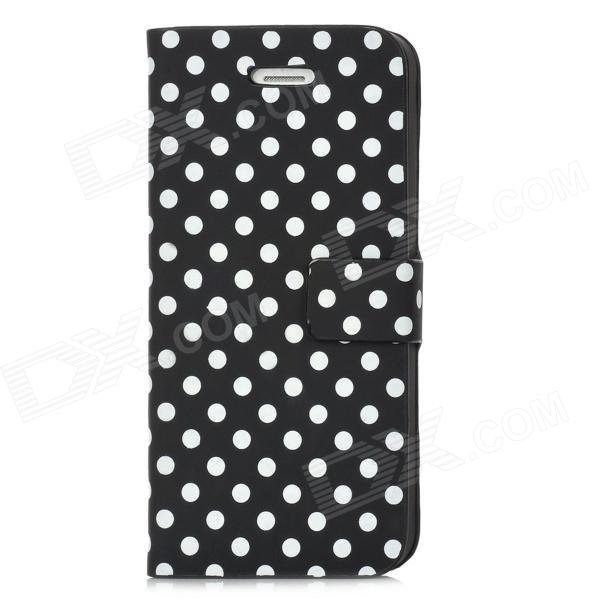 Dots Pattern PU Leather Cover PC Back Case Stand for Iphone 5 - Black + White artelamp a4806pl 2cc