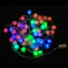 4.8W RGB 50-LED Lamp Strip w/ Snow Ball - White (10m / EU Plug)