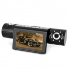 "Borui Q9 2.7"" TFT Dual Lens 2.0MP Wide Angle Car DVR Camcorder w/ TF / HDMI / Night Vision - Black"