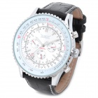 NBW0FA6241 Men's PU Leather Band Self-winding Mechanical Analog Wrist Watch - Black + White