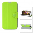 Protective PU Leather + PC Case for Samsung Galaxy Note 2 N7100 - Green + Grey