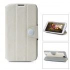 Protective PU Leather + PC Case for Samsung Galaxy Note 2 N7100 - White + Grey