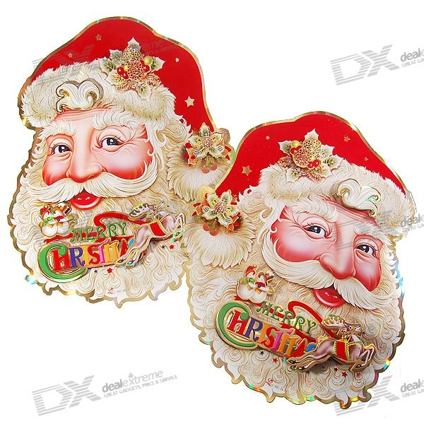 Dual-Faced Santa Claus Style Wallpapers (2-Piece Set)
