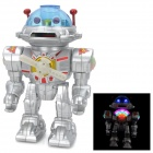 Qiqu qiqu0905 Electric Space Marine Fighting Dynamic 7-Color Shoot Robot - Silver (4 x AA)
