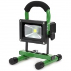 Portable Outdoor 10W Rechargeable Waterproof LED White Light Project Lamp w/ 2-Flat-Pin Plug - Green