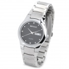 WeiQin W0056A Men's Fashion Quartz Wrist Watch w/ Calendar / Week - Silver + Black (1 x CR1032)