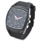 OTS 6755 Fashion Man Silicone Band Analog + Digital Waterproof Glow-in-the-Dark Armbanduhr - Schwarz