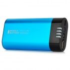 Multifunction 5000mAh Mobile Power Battery w/ Hand Warmer / LED Light for iPhone 4 / 4S - Blue