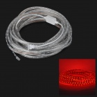 72W 800lm 300-SMD 3528 LED Red Light Decoration Strip - Transparent White (220V US Plug / 10m)