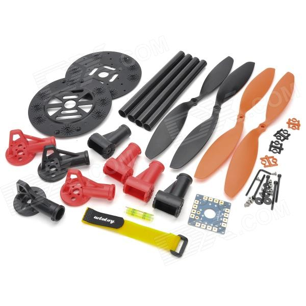 HJ 001 ABS + Carbon Fiber 4-Axis R/C Helicopter Shaft Frame Set - Red + Black
