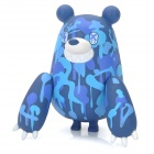 121202 Scribble Pattern Nette Large Klaue Bear Toy - Blue